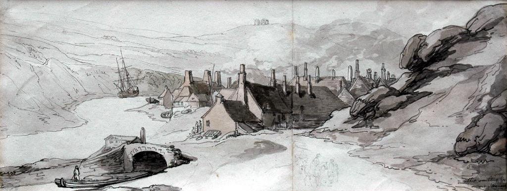 Thomas Rowlandson (1756-1827) 'Copper smelting houses near Swansea'